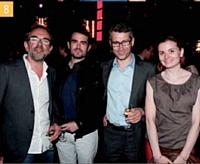 5 Emmanuelle Jasson (Echangeur By LaSer), Cyrille Kittel (Cofinoga), Patrick Russo (LaSer) et Christophe Génin (LaSer)