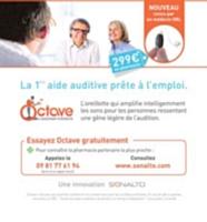 L'audioprothèse Octave, de Sonalto, coûte 299 euros, contre 1 700 euros en moyenne pour ce genre de produit.