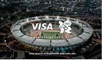 Visa a mis au point un spot publicitaire TV et web dans lequel apparaissent des célébrités du sport.