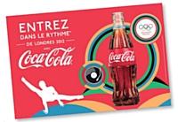 Via sa campagne «Entrez dans le rythme», Coca-Cola organise pour les JO de Londres une série d'actions autour d'une campagne alliant sport et musique.
