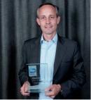 Un prix décerné à Romain Voog, p-dg d'Amazon France, le 10 septembre 2012.