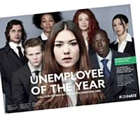 «Chômeur de l'année», c'est la dernière initiative de Benetton, toujours soucieuse de marquer les esprits.