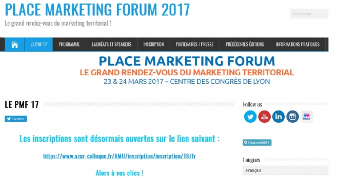 Place Marketing Forum 2017