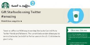 Starbucks vous permet d'offrir un café à un ami via Twitter