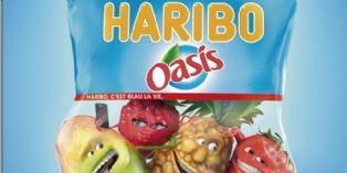 Les bonbons Haribo goûtent aux fruits Oasis