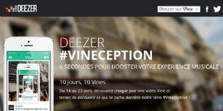 Deezer fait sa promotion sur Vine avec la série #Vineception