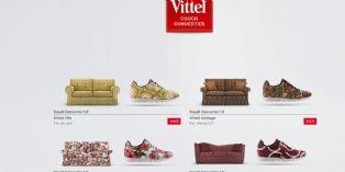 [Vidéo] Vittel transforme les canapés en chaussures