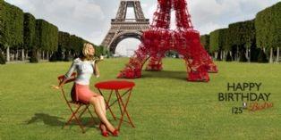 Fermob s'offre une Tour Eiffel rouge