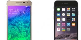 Iphone 6 et Plus d'Apple vs Galaxy Alpha et Note 4 de Samsung : le match !