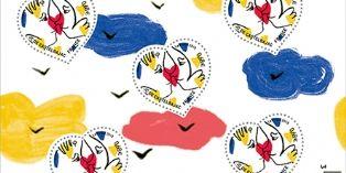 """Jean-Charles de Castelbajac dessine le timbre """"coeur"""" 2015 pour La Poste"""