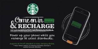 A Londres, les amateurs de caf� peuvent recharger gratuitement leur mobile chez Starbucks