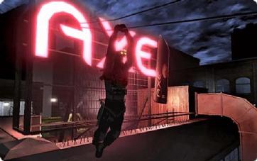 La marque Axe, bien visible dans le jeu Splinter Cell