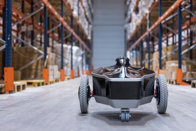 E-vigilante, le robot de surveillance d'Eos Innovation.