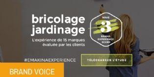 Quand les français évaluent l'expérience de 15 marques de bricolage et de jardinage.