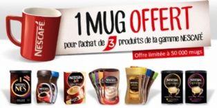 Nescafé offre des mugs collectors sous forme de prime promotionnelle
