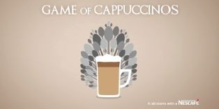 Nescafé joue au latte art version Game of Thrones