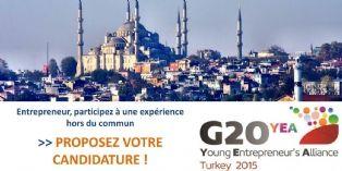 G20 YEA 2015 : vous avez jusqu'au 27 avril pour int�grer la d�l�gation fran�aise d'entrepreneurs