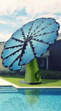 Symbole de l'alliance entre la technologie et la nature, la SmartFlower est disponible en plusieurs coloris, dont - évidemment - le vert.
