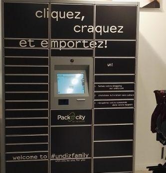 Undiz teste le retrait des achats en casiers automatiques