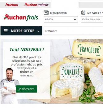 Auchan Frais, nouveau service de commande en ligne de produits frais