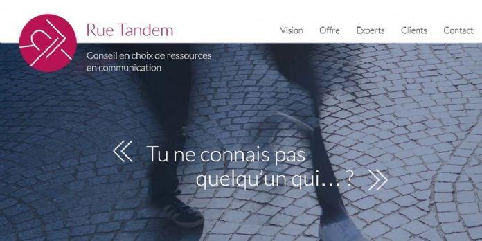 Rue Tandem met en relation professionnels de la communication et annonceurs