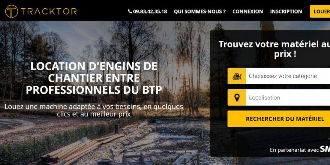 Une plateforme qui met en relation des loueurs d'engins de chantiers et des artisans du BTP