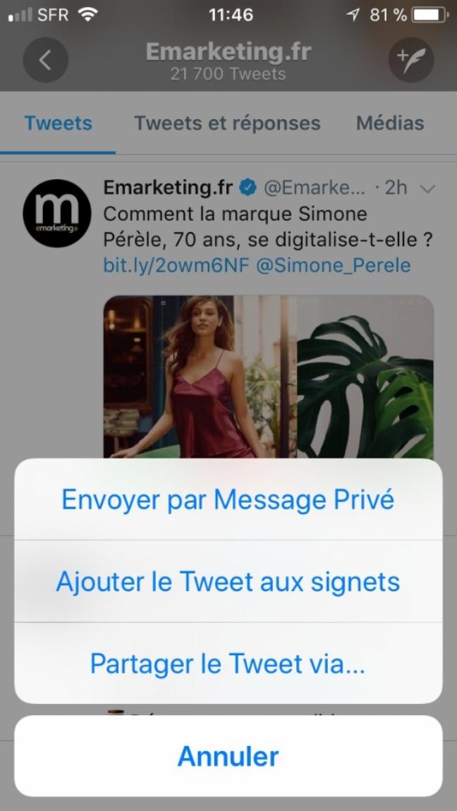 Twitter Lance La Fonctionnalité Signets Pour Sauvegarder Des Tweets