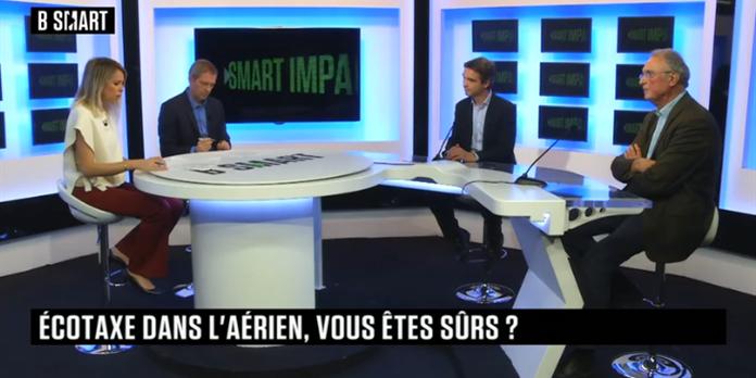 Smart Impact 30 septembre : Pascale Baussant, pour ou contre l'écotaxe dans l'aérien, Blinx