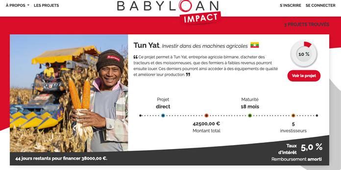 Babyloan IMPACT développe l'épargne solidaire