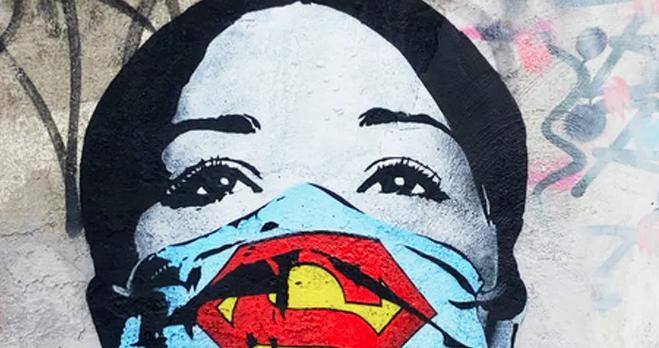 Quand la pandémie inspire le street art