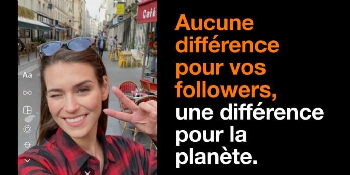 Orange et Publicis Conseil proposent un filtre Instagram et Facebook écolo