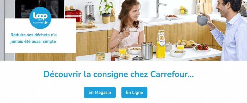 Carrefour déploie le service de consigne Loop
