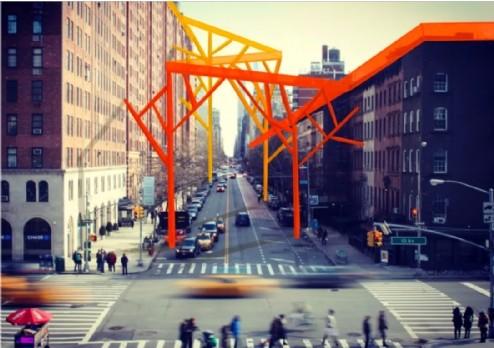 Des passerelles pour créer du lien dans la ville de demain. Étudiants du master spécialisé en marketing, design et création, Audencia Business School
