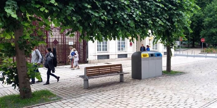 Amiens teste le tri en centre-ville