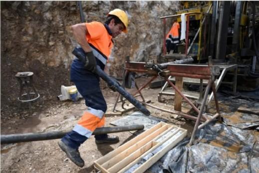 Un ouvrier dans la mine de Barroso, près de Boticas dans le nord du Portugal, le 3 septembre 2018. Francisco Leong/AFP