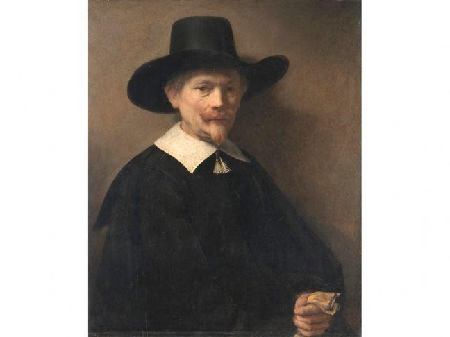 Rembrandt, Portrait of a Man Holding Gloves