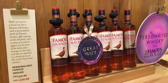 Bouteilles de Whisky The Famous Grouse personnalisables