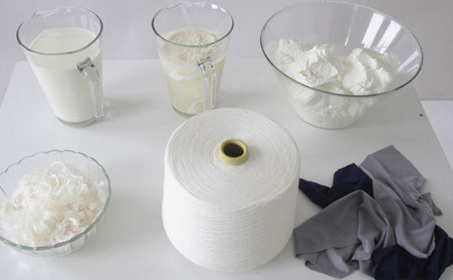 QMilch : une fibre textile à base de protéine de lait vache.