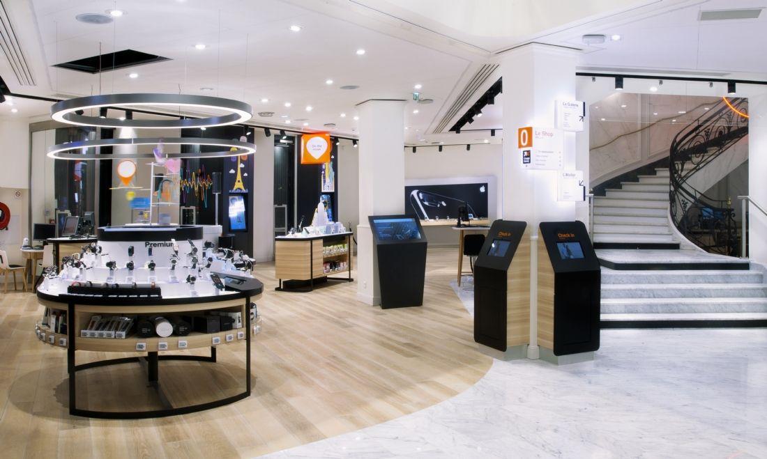 orange d fie apple avec son nouveau concept store. Black Bedroom Furniture Sets. Home Design Ideas