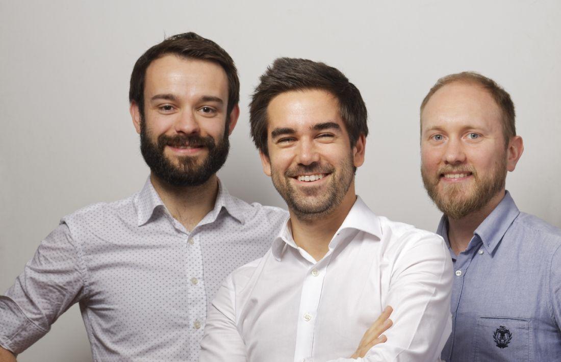 Timothée Soubise, Johann Kalchman (p-dg) et Martial Itty, les trois cofondateurs de Lifeaz