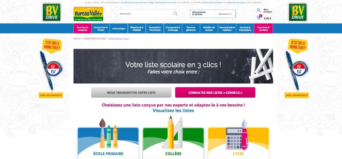 Rentr e scolaire la bataille des vendeurs en ligne face for Achat fournitures de bureau en ligne