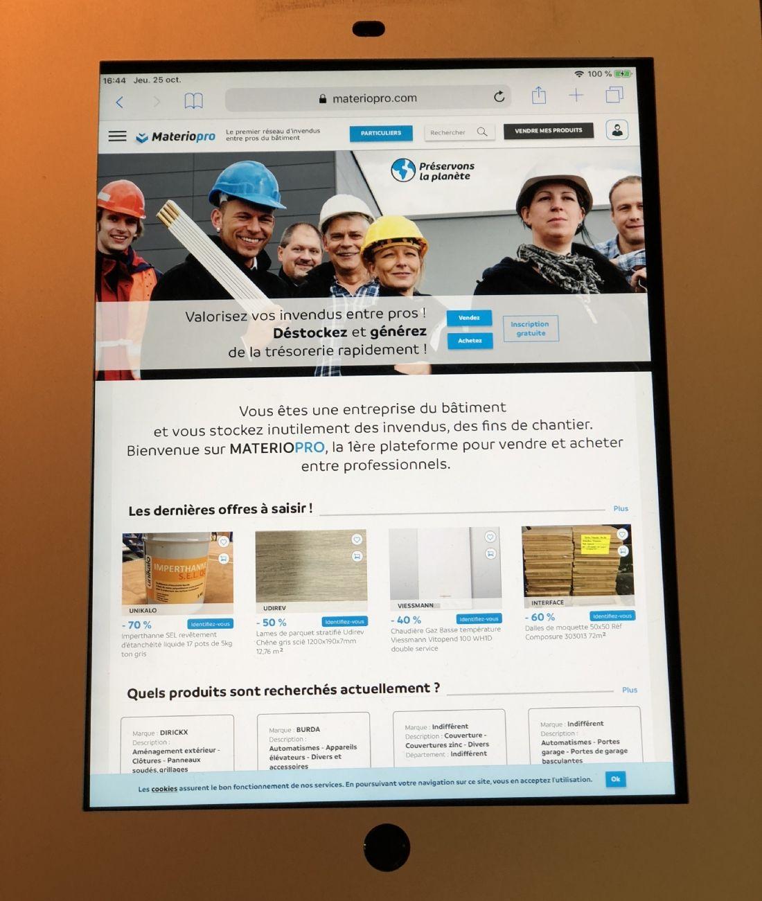 Materiaupro.com, plateforme d'achat et vente d'invendus entre pros