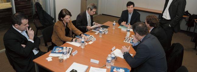 La table ronde organisée par Action Commerciale en février 2014 a réuni Sébastien Lacombe (Companeo), Sophie Vandriessche (Citrix), Francis Roche (ADP France), Fabrice Massin (Acer France) et Patrice Capelli (Humanis).