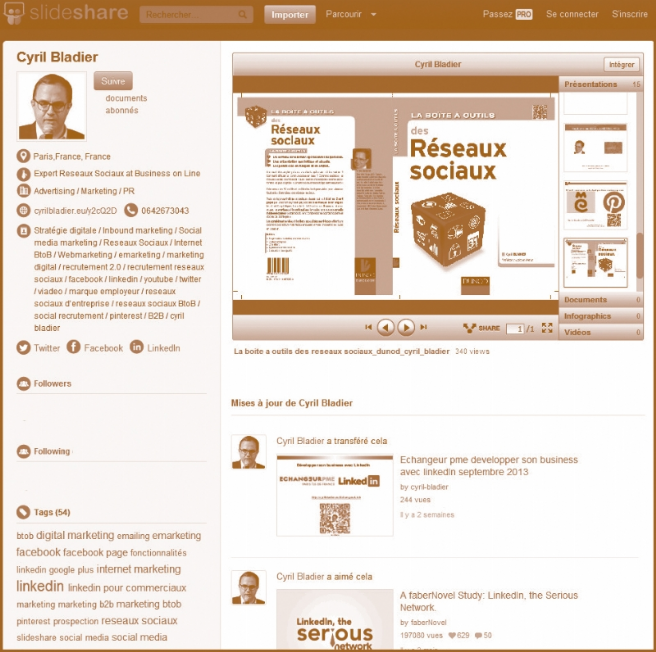 le partage de documents   slideshare