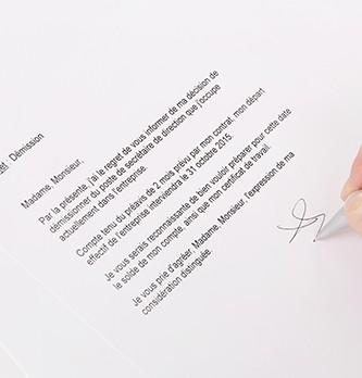 Comment écrire une lettre de démission ?