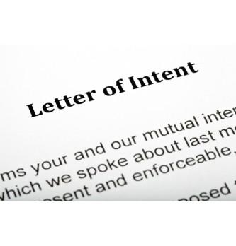 Quels sont les objectifs d'une lettre d'intention ?
