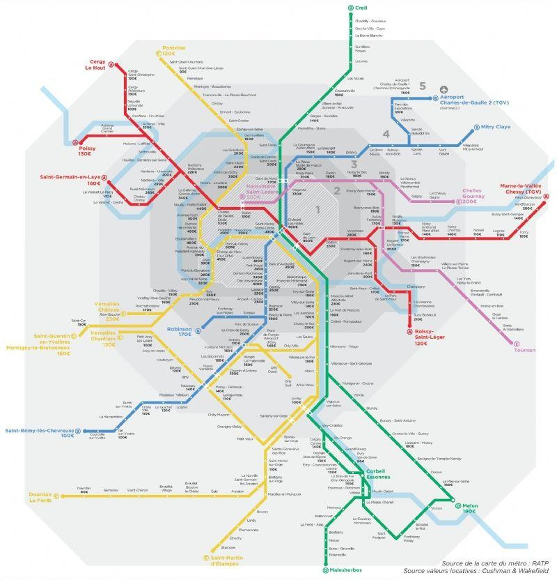 Immobilier de bureau: les tarifs en agglomération parisienne