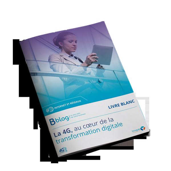 Couverture livre blanc La 4G, au coeur de la transformation digitale