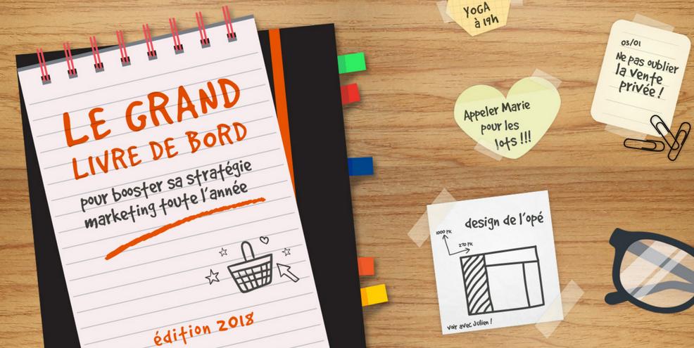 Couverture livre blanc Le grand livre de bord pour booster sa stratégie marketing toute l'année