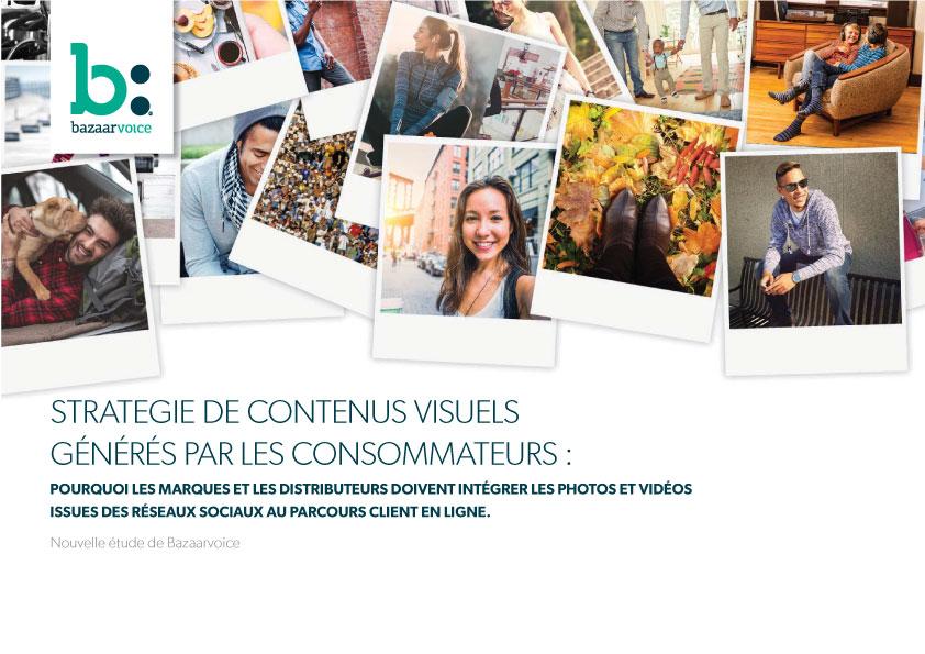 Couverture livre blanc ebook : Stratégie de contenus visuels générés par les consommateurs